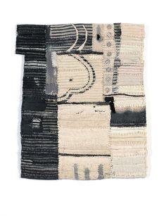 Matthew Harris - Aoyama Window fragments, dyed, cut and hand stitched cloth