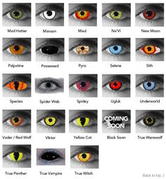 halloween contacts! Ask what halloween contacts we have available ...