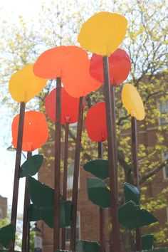 Box of Flowers by Jennifer Meyer Oak Park, Jennifer Meyer, Wind Chimes, Sculpture, Box, Outdoor Decor, Flowers, Image, Home Decor