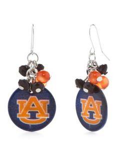 accessory PLAYS  Silver-Tone Auburn Tigers Cluster Drop Earrings