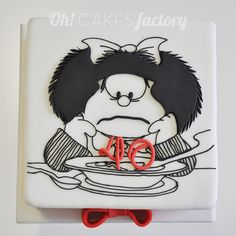 Mafalda's Birthday cake. Oh! CAKES factory. Burela (Lugo)