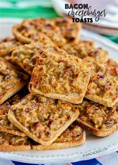 Bacon Cheeseburger ToastsReally nice recipes. Every hour.Show me  Blog: Alles rund um die Themen Genuss & Geschmack  Kochen Backen Braten Vorspeisen Hauptgerichte und Desserts #hashtag