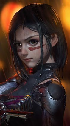 Alita: Battle Angel, Movie, Art, Wallpaper - Best of Wallpapers for Andriod and ios Art Manga, Anime Art Girl, Anime Angel, Anime Cosplay, Alita Movie, Alita Battle Angel Manga, Angel Movie, Character Art, Character Design