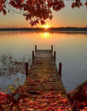 Autumn Sunrise Pelican Lake, Wisconsin, US. Fall colors and a beautiful lake. Beautiful World, Beautiful Places, Beautiful Sunset, Peaceful Places, Beautiful Scenery, Simply Beautiful, Beautiful Days, Gorgeous Gorgeous, Peaceful Life