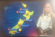 Not only is this New Zealand reporter doing the weather dressed as an Elf, Hobbiton is on the map! Oh, New Zealand. Never change.