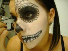 sugar skull makeup tutorial halloween dia de los muertos day of the dead