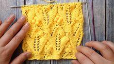 Схема вязания спицами, цветочки и шишечки