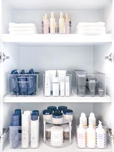 This is the bathroom cabinet makeover we did for our friend using products! Have we mentioned what good friends we are? Bathroom Cabinet Organization, Bathroom Organisation, Bathroom Cabinets, Bathroom Storage, Small Bathroom, Storage Organization, Bathroom Drawers, Guys Bathroom, Organized Bathroom