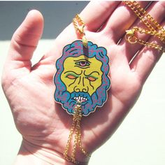 Cyclops necklaceoversized pendantlaser cut and by ultraterrestrial, $12.00
