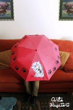 Paraguas pintado a mano