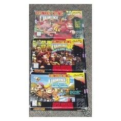 Donkey Kong Country 1,2, & 3 for the SNES. Out of all the Donkey Kong's these 3 are the best. Very, Very fun game. I believe I played #2 the most, addictive.
