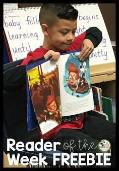 Reader of the Week! Learn all about how you can start his program in your classroom and build fluency and confidence with your readers. Great for and grade students. Reading Centers, Reading Fluency, Reading Skills, Teaching Reading, Teaching Ideas, Team Teaching, Learning, Back To School Activities, Reading Activities