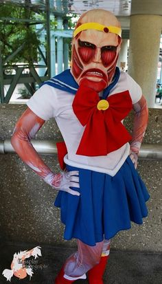 Attack on Titan x Sailor Moon. Curated by Suburban Fandom, NYC Tri-State Fan Events: http://yonkersfun.com/category/fandom/