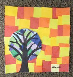 ART with Mrs. Smith: Mosaic Trees inspired by the work of Loretta (Rett) Grayson Third Grade Art, 2nd Grade Art, Grade 2, Second Grade, Art Lessons For Kids, Art Lessons Elementary, Kindergarten Art, Preschool Art, Fall Art Projects