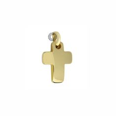 Μοντέρνος σταυρός βάπτισης για αγόρι από χρυσό Κ14 με ενσωματωμένο κρίκο | Βαπτιστικοί σταυροί ΤΣΑΛΔΑΡΗΣ στο Χαλάνδρι #βαπτιστικός #σταυρός #χρυσός #αγόρι