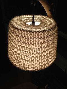 Mitt siste DIY prosjekt #lampeskjerm #restegarn