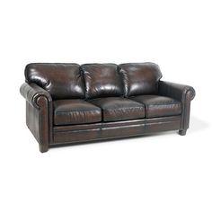 Found it at Wayfair - Hillsboro Leather Sofa