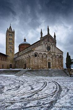 Neve a Massa Marittima, province of Grosseto Tuscany