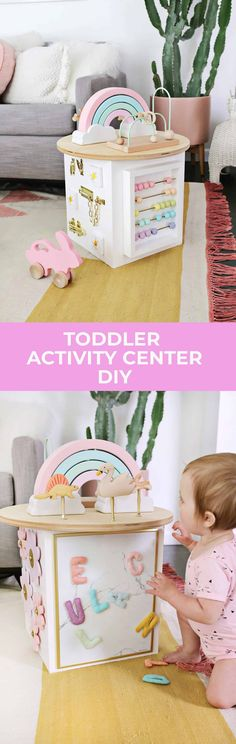 Toddler Activity Center DIY! - A Beautiful Mess
