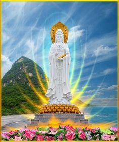 A Di Da Phat Quan The Am Guanyin Buddha 2223 by kwanyinbuddha on DeviantArt Buddha Temple, Buddha Art, Nature Wallpaper, Galaxy Wallpaper, Bodh Gaya, Amitabha Buddha, Golden Buddha, Buddha Tattoos, Thing 1