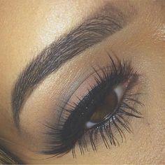 Smoky brown eye look.
