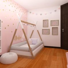 50 Inspiring Nursery Ideas for Your Baby Girl Cute Designs You'll Love is part of Modern kids bedroom - Get inspired to prepare and create the perfect room for your baby girl These baby girl nursery ideas can help you create a cute girly room style