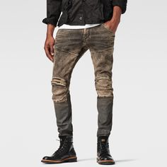 G-Star RAW | Men | 新着アイテム | 5620 3d Zip Knee Super Slim Jeans , Medium Aged Cobler Restored