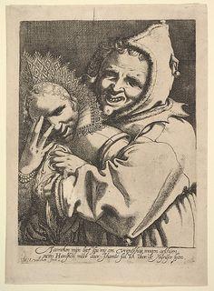Fool with a Girl Looking Through Her Fingers. Werner van den Valckert (1585-1627) Met Museum