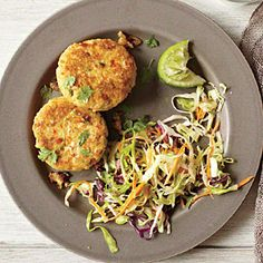 Green Curry Fritters   CookingLight.com #myplate #protein