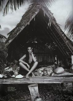 #tropical islandbabe marie claire australia feb '14 shanina shaik by david gulbert
