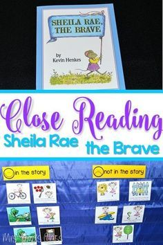 Sheila Rae the Brave by Kevin Henkes Close Reading Activities; Reading Comprehension Strategies include Predictions, Recalling Text Details, Character Analysis, Connections, and Inferencing. Vocabulary, Phonics, Word Work and Grammar. Also includes an adorable Directed Drawing Craft. Perfect for Kindergarten and First-grade.