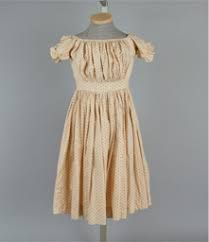 Dress, girl's, orange and white cotton, small dot and line print, Wisconsin Historical Museum Collection Historical Costume, Historical Clothing, Historical Society, Vintage Dresses, Vintage Outfits, Vintage Fashion, Victorian Children's Clothing, Vintage Clothing, 1950s Outfits