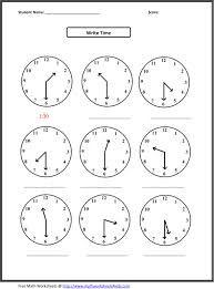 www.mathworksheets4kids.com, llena de fichas de mates. Las de horas, estupendas