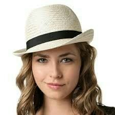 585286881aff0 59 Best Straw Fedora Hats For Women images