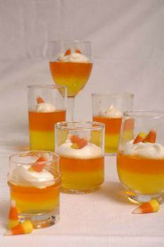 candi corn, jello shots, halloween parties, adult halloween, halloween drinks, candy corn, party shots, jello shooters, whipped cream