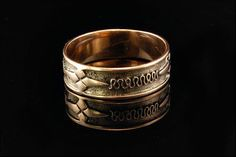 Antique Victorian 14k Gold Cigar Wedding Band by SummitTreasures