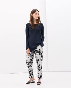 FLORAL PRINT TROUSERS from Zara