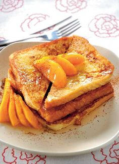 french toast with mangoes