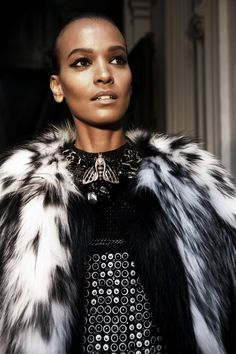Backstage Glam with Liya Kebede during the #RobertoCavalli FW 2013 Ad Campaign photo shoot!