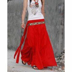 Love long skirts.  Bohemian style