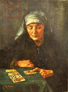 Bandell Eugenie (1863 - 1918) Ghicitoarea/ Fortune teller Fortune Teller, Painting, Painting Art, Paintings, Drawings