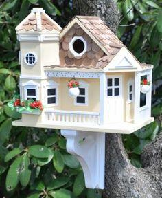 Sea Cliff Cottage Birdhouse (Yellow)