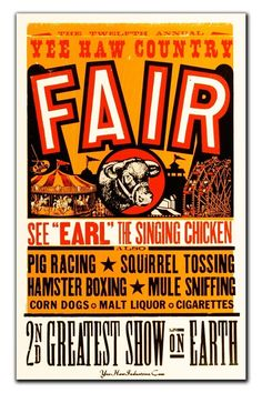 vintage woodblock midway posters - Google Search