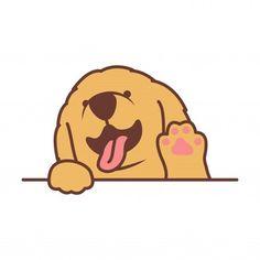 Mini Drawings, Cartoon Drawings, Retriever Puppy, Dogs Golden Retriever, Hipster Dog, Dog Icon, Puppy Drawing, Cute French Bulldog, Cute Corgi