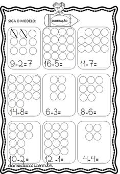 Subtraction Kindergarten, Preschool Writing, Kindergarten Math Worksheets, Math Activities, Math Charts, Printable Preschool Worksheets, First Grade Math, Math For Kids, Math Lessons