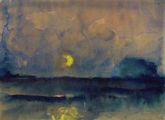 Halbmond über dem Meer (Half Moon Over The Sea) - Emil Nolde 1945
