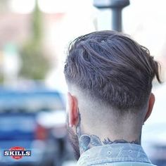 Beard Haircut, Fade Haircut, Gents Hair Style, Men Hair Color, Faded Hair, Slicked Back Hair, Hair Tattoos, Undercut Hairstyles, Beard No Mustache