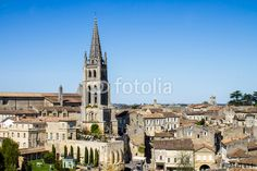 The bell tower of the #monolithic #church in #Saint #Emilion, near Bordeaux #microstockita