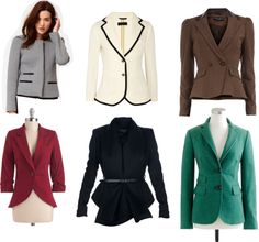 A collection of blazers worthy of Alicia Florrick!I know it's in my olivia pope board but the two world just love to combine for me :) Lawyer Fashion, Fashion Tv, Office Fashion, Work Fashion, Office Outfits, Casual Outfits, Elegant Office Wear, Lawyer Outfit, Good Wife