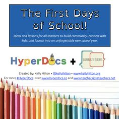 Kelly Hilton ( created this amazing collection of ideas on how your students can introduce themselves and connect with each other during the first few days (or weeks) of school. Beginning Of School, New School Year, First Day Of School, School Fun, Back To School, School Stuff, Middle School, School Ideas, Computer Lessons